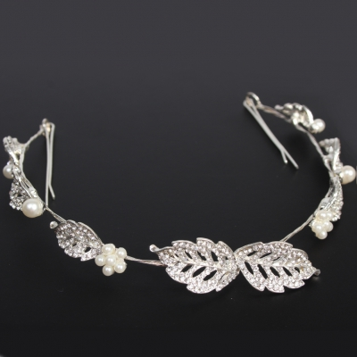 Luxus Strass Diadem Tiara in silber - 1