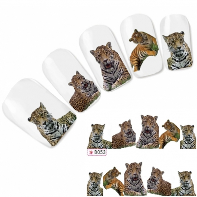 Tattoo Nail Art Tiger Aufkleber Nagel Sticker Neu!
