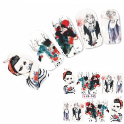 Tattoo Nail Art Aufkleber Japan Manga Nagel Sticker Neu!