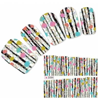 Tattoo Nail Art Aufkleber Bunt Nagel Sticker Neu!