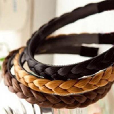 Haarreif mit Geflochtenen Kunsthaaren in verschiedenen Farben - 1