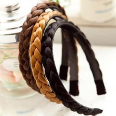 Haarreif mit Geflochtenen Kunsthaaren in verschiedenen Farben - 2