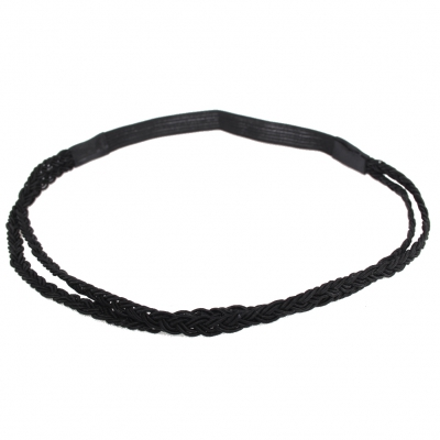 Schönes Geflochtenes Haarband in der Farbe Schwarz - 1