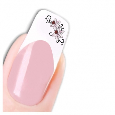 Tattoo Nail Art Blume Aufkleber Nagel Sticker - 1