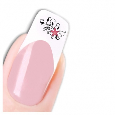 Tattoo Nail Art Blume Ornamente Aufkleber Nagel Sticker - 1