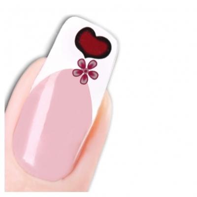 Tattoo Nail Art Herz Scheife Aufkleber Nagel Sticker - 1