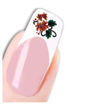 Tattoo Nail Art Blume Aufkleber Nagel Sticker - 1