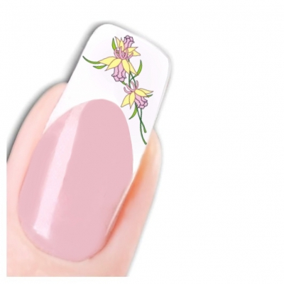 Tattoo Nail Art Narzissen Aufkleber Nagel Sticker - 1