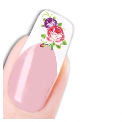 Tattoo Nail Art Blumen Aufkleber Nagel Sticker - 1