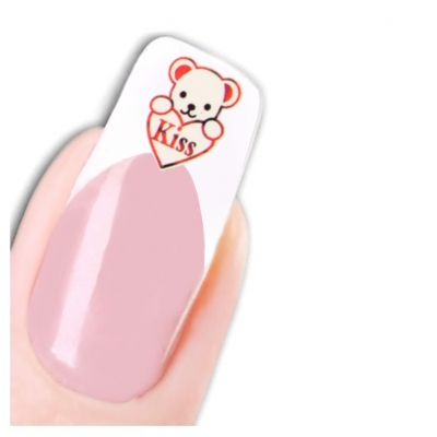 Tattoo Nail Art Herz Love Aufkleber Nagel Sticker - 1