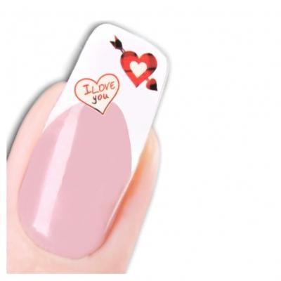 Tattoo Nail Art Herz Love Aufkleber Nagel Sticker - 1