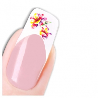 Tattoo Nail Art Blumen Schmetterling Aufkleber Nagel Sticker - 1