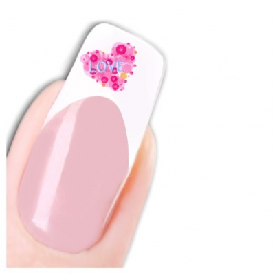 Tattoo Nail Art Love Blumen Aufkleber Nagel Sticker - 1