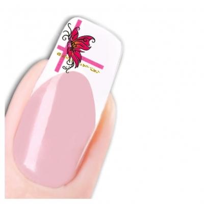 Tattoo Nail Art Herz Schmetterlinge Aufkleber Nagel Sticker - 1