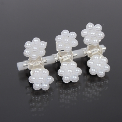 Mini Haarklammern Perlen Hochzeit Haarclip Haarkneifer Haarspange Claw - 1