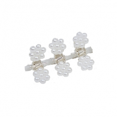 Mini Haarklammern Perlen Hochzeit Haarclip Haarkneifer Haarspange Claw - 3