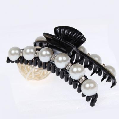 Haarklammer Haargreifer mit Perlen und Strass - 1