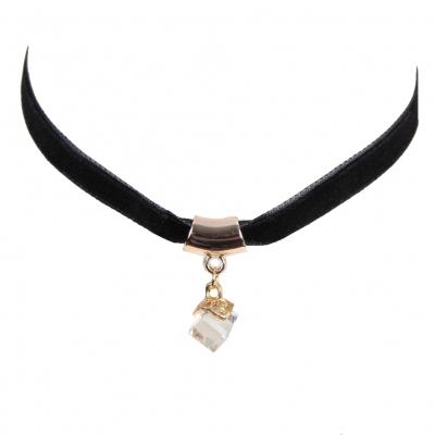 Gothic Samt Halsband Choker Strass Perlen Modell 4 - 1