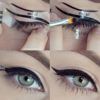 2er SET Eyeliner Schablonen - 2