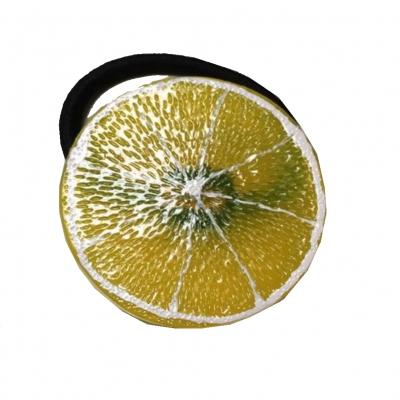 Sommer Haargummi Zopf-Halter Obst Früchte Zitrone - 1