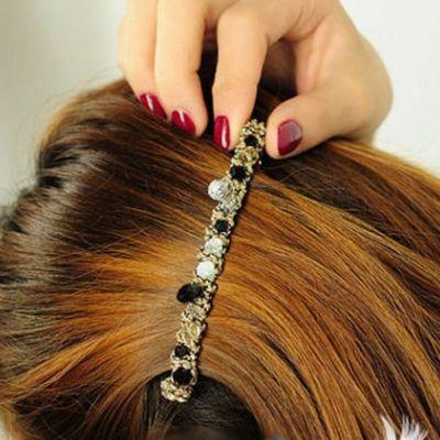 Haarspange Haarklammer Kristall Diamonds Look in verschiedenen Farben - 2