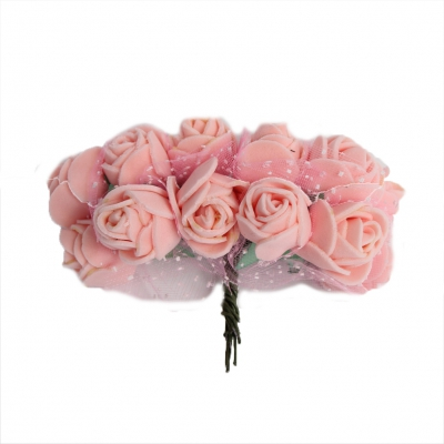 Rose Hochzeitsanstecker für den Bräutigam Trauzeugen oder Gäste in der Farbe Rosa - 1