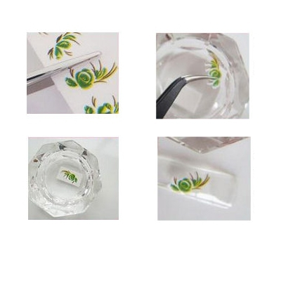Tattoo Nail Art Blumen Aufkleber Nagel Sticker - 2