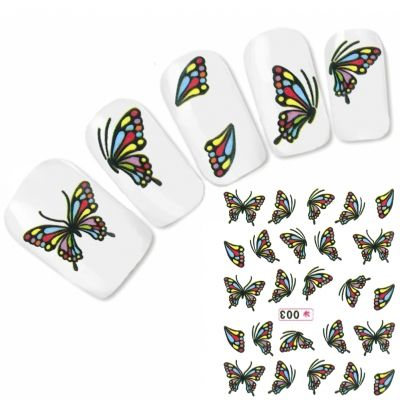 Tattoo Nail Art Schmetterling Aufkleber Nagel Sticker