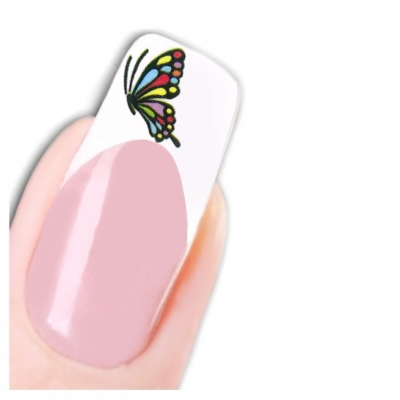 Tattoo Nail Art Schmetterling Aufkleber Nagel Sticker - 1