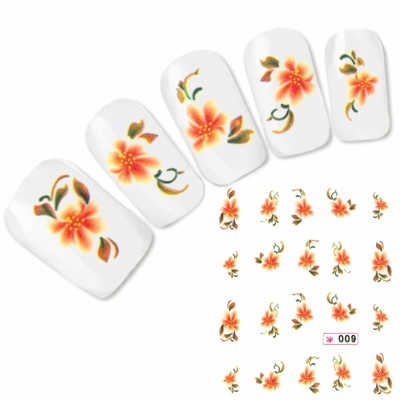 Tattoo Nail Art Aufkleber Blumen Nagel Sticker