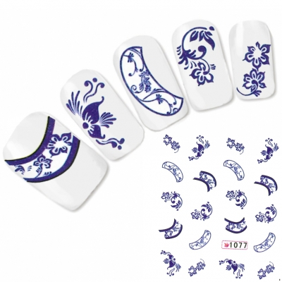 Tattoo Nail Art Blumen Ornamente Aufkleber Nagel Sticker