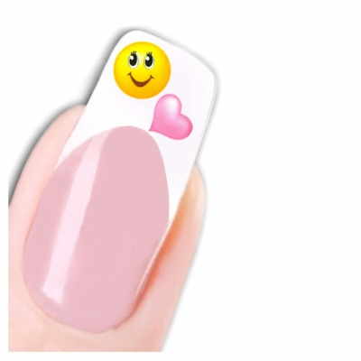 Tattoo Nail Art Smiley Herz Aufkleber Nagel Sticker - 1