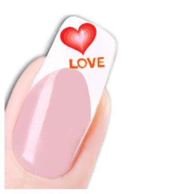 Tattoo Nail Art Herz Aufkleber Nagel Sticker - 1