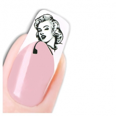 Tattoo Nail Art Marilyn Monroe Aufkleber Nagel Sticker - 1