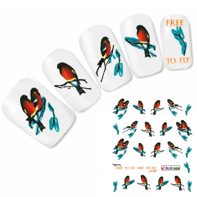 Tattoo Nail Art Vogel Aufkleber Nagel Sticker