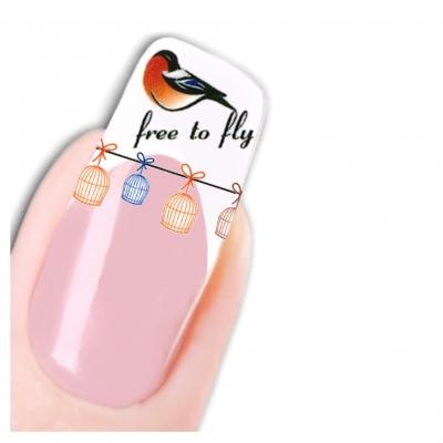 Tattoo Nail Art Vogel Aufkleber Nagel Sticker - 1