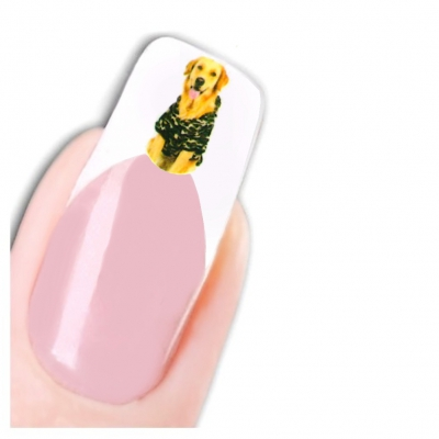 Tattoo Nail Art Hunde Aufkleber Nagel Sticker - 1