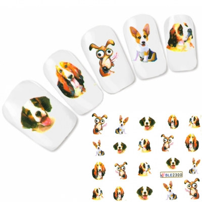 Tattoo Nail Art Hunde Aufkleber Nagel Sticker - 0
