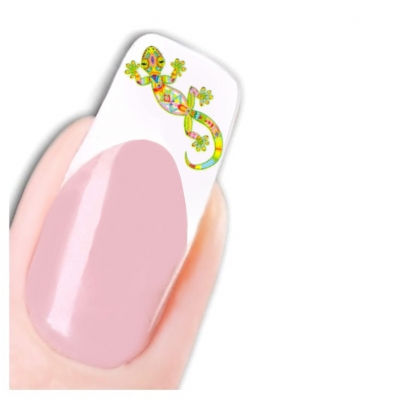 Tattoo Nail Art Echse Aufkleber Nagel Sticker - 1
