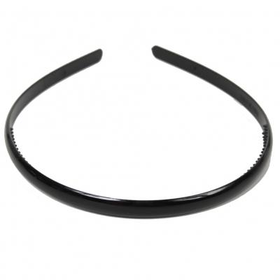 Schlichter schwarzer Haarreif - 1