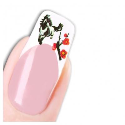 Tattoo Nail Art Japan Pferd Aufkleber Nagel Sticker - 1
