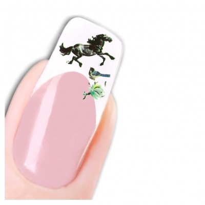 Tattoo Nail Art Japan Pferd Aufkleber Nagel Sticker - 1