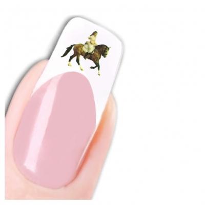 Tattoo Nail Art Pferd Aufkleber Nagel Sticker - 1