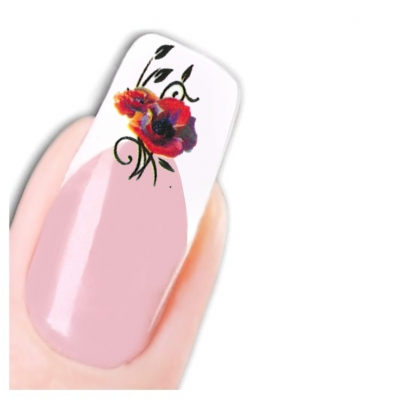 Tattoo Nail Art Schmetterling Blumen Aufkleber Nagel Sticker - 1