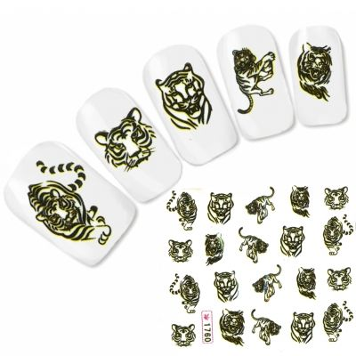 Tattoo Nail Art Tiger Aufkleber Nagel Sticker
