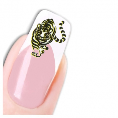 Tattoo Nail Art Tiger Aufkleber Nagel Sticker - 1