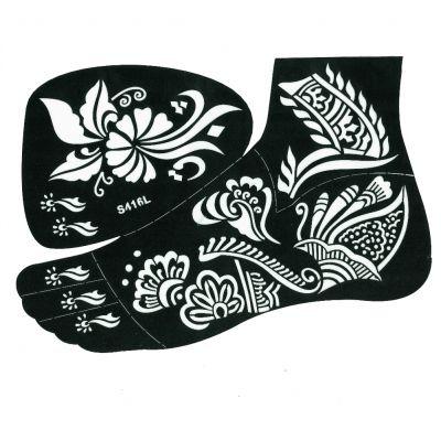 Henna Tattoo Schablone für den rechten oder linken Fuß - 2