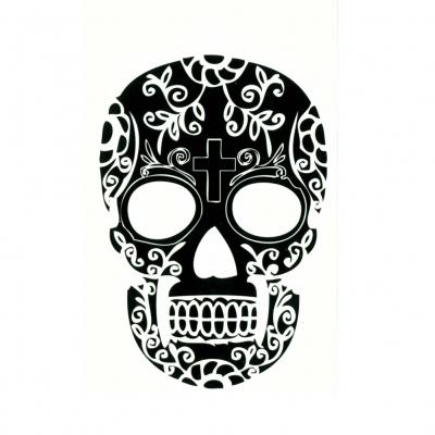 Temporäre Tattoos Totenkopf Körperkunst - 2