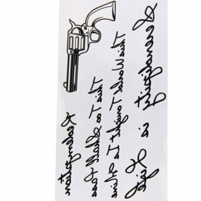 Temporäre Tattoos Pistole Schrift Körperkunst - 2