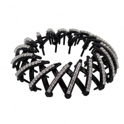 Haargreifer mit Strass Schwarz - 2
